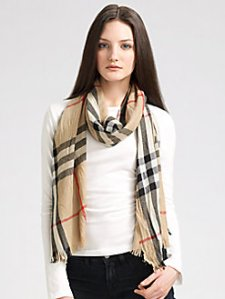 classic burberry scarf