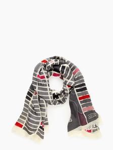 Kate Spade map scarf 1