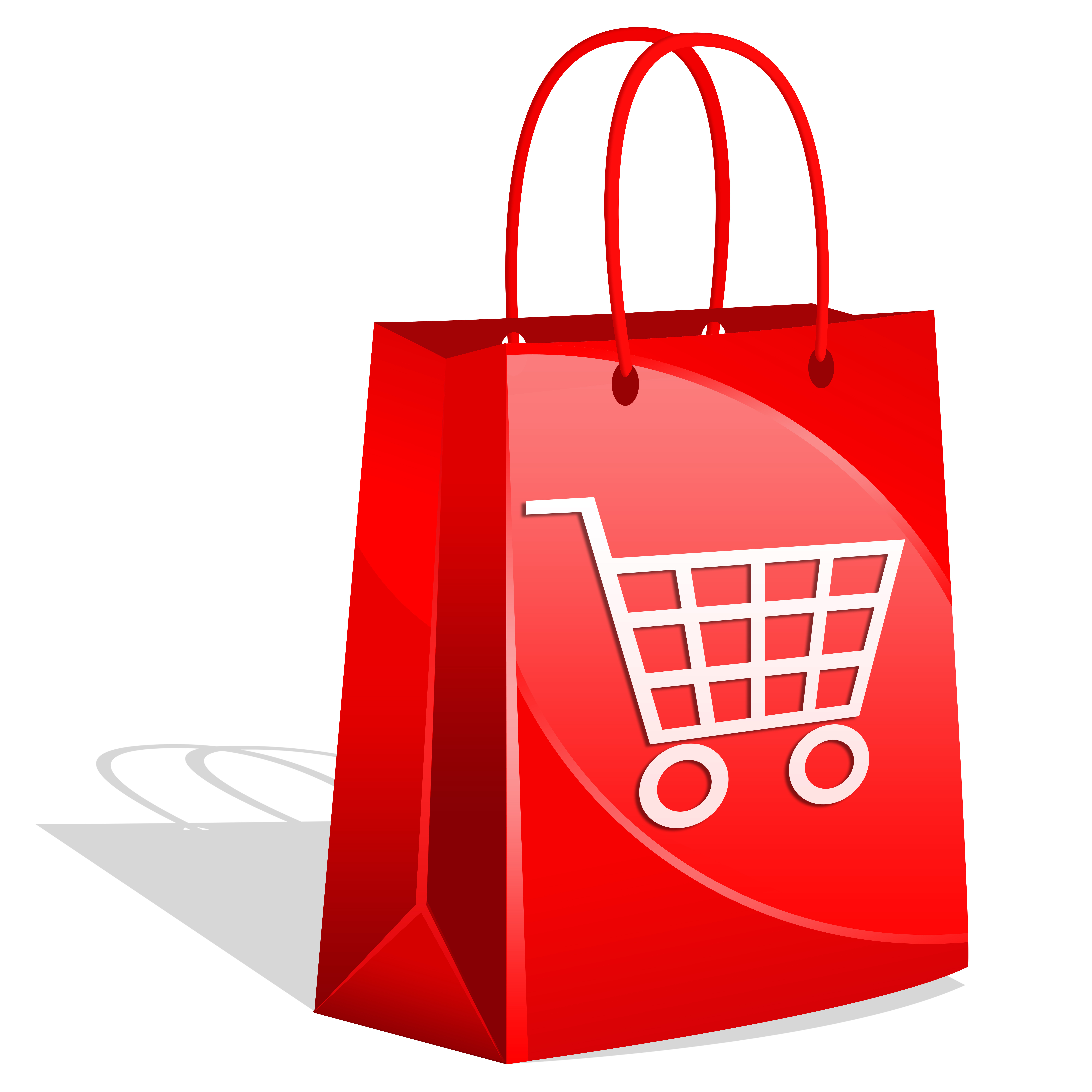 Large paper shopping bags