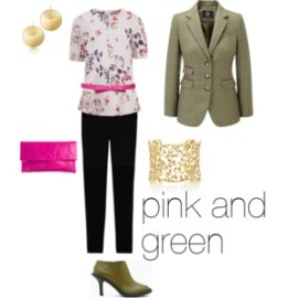 pink and green