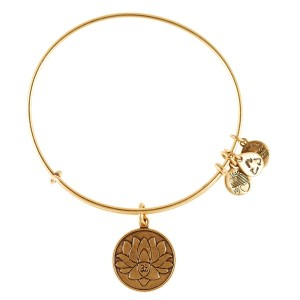 Alex and Ani lotus peace bracelet