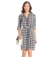 black gingham DVF