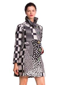 Desigual B&W coat