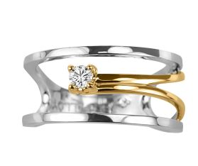 Paris Jewelers two tone ring