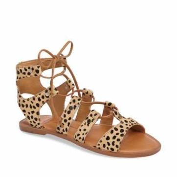 animal print sandal