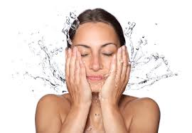 face wash with water