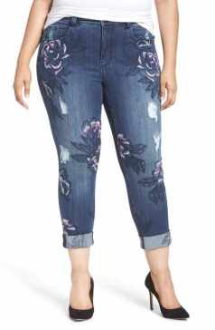 melissa mccarthy embroid skinny jeans